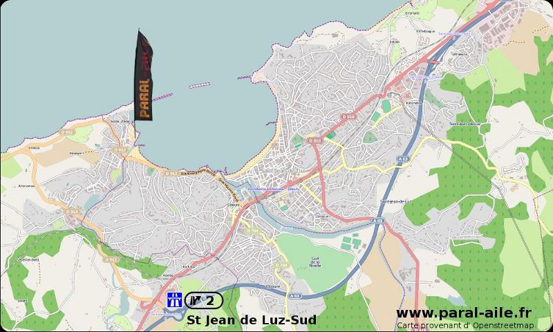 Port Socoa Map and itinerary